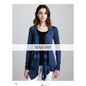 Burberry waterfall reversible cardigan, XS